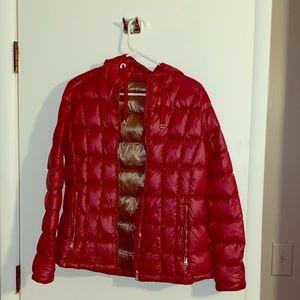Calvin Klein Red puff jacket w/ hood